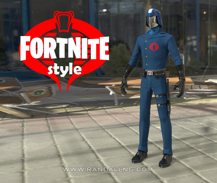 Cobra Commander x Fortnite by rando3d