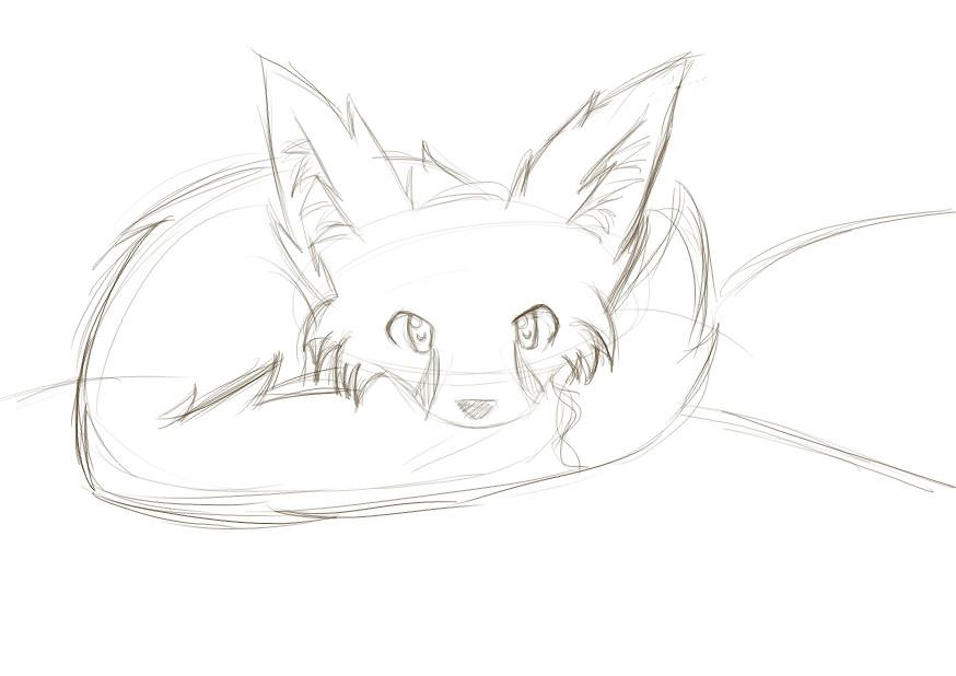Line Drawing Fox : Fennec fox sketch by madhatter9 on deviantart