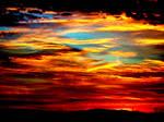 the intense sunrise