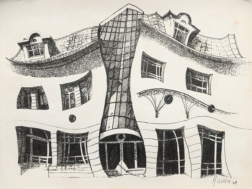 Line Art House : Martin smith chiswick house line drawing open ended prints posters