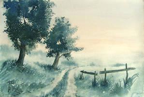 Morning road by mwolski