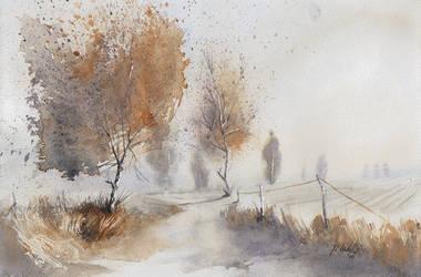 Autumn's evening by mwolski