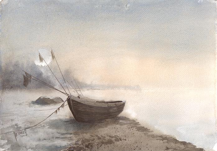 Winter boats by mwolski