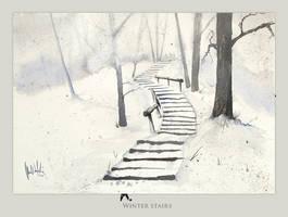 Winter stairs by mwolski