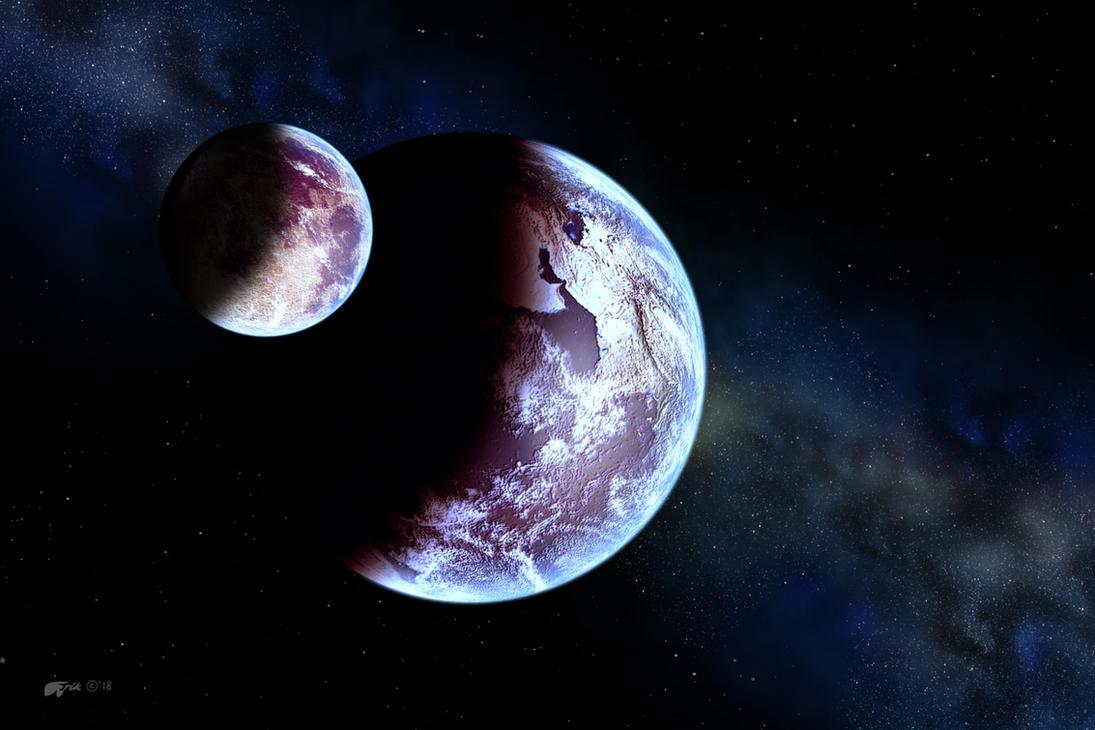 Lunaris and Gaia by Redwoodjedi