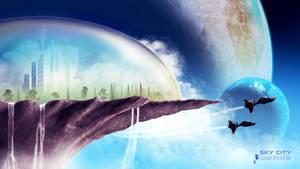 Sky City - FREE WALLPAPER