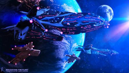 Escorting The Fleet by Redwoodjedi