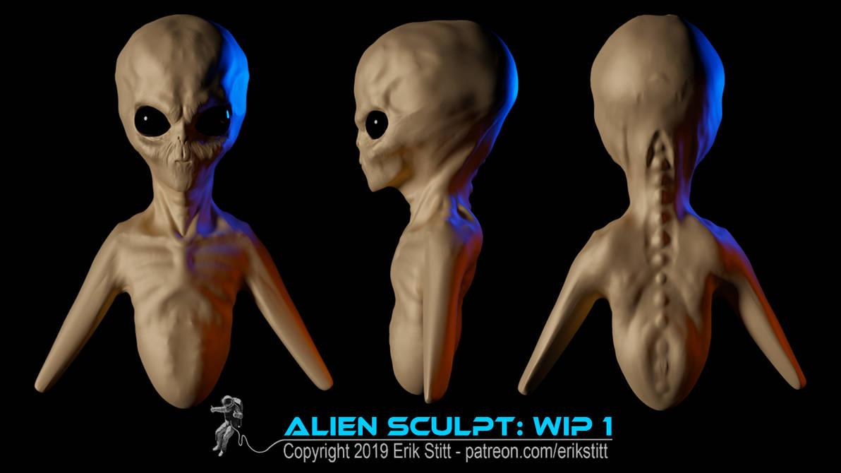 Alien Sculpt WIP1 by Redwoodjedi