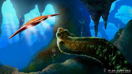 In An Alien Sea - Desktop Wallpaper by Redwoodjedi