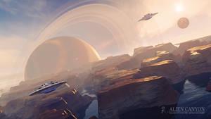Alien Canyon - Wallpaper