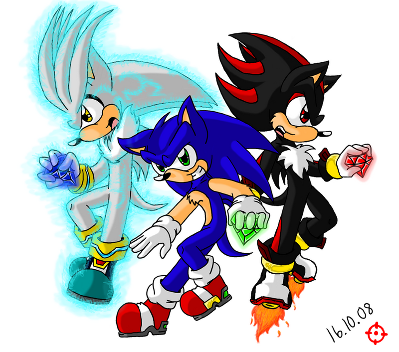 Silver Sonic and Shadow by SneakingSniper on DeviantArt