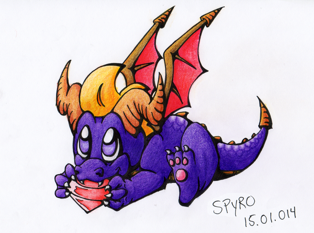 Spyro nomming gems by SneakingSniper