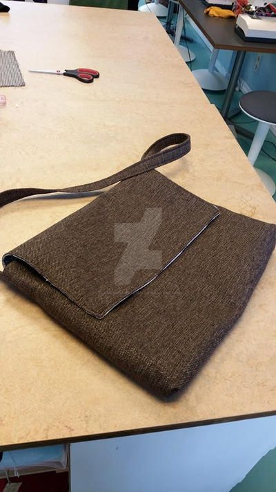 My handmade side bag. :-) by Blackinkbarbarian