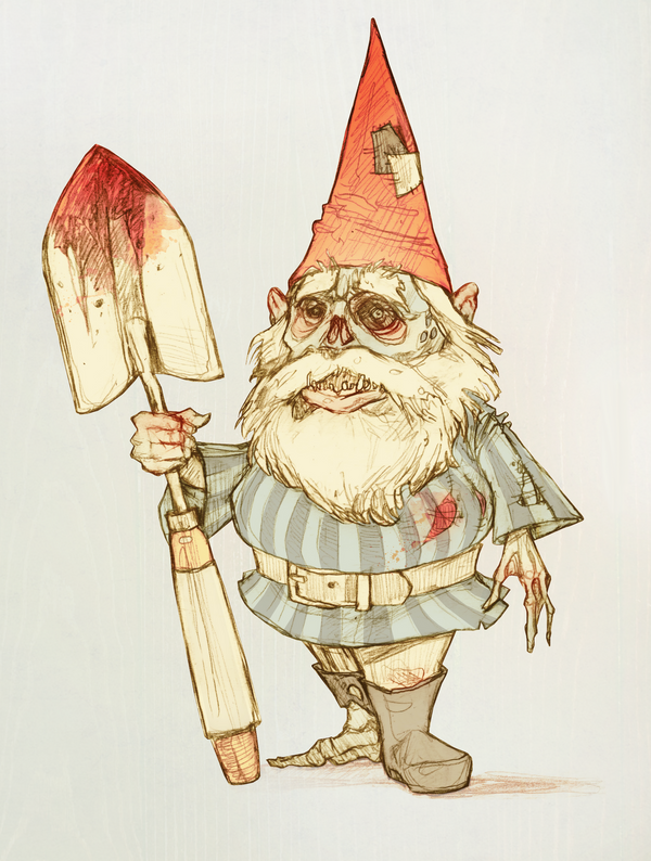 Zombie Gnome by AudreyBenjaminsen