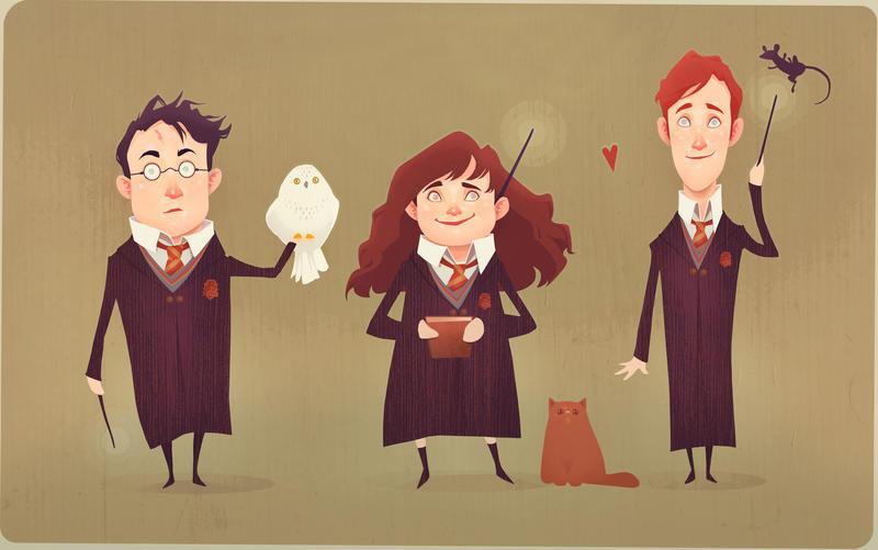 The Golden Trio by AudreyBenjaminsen