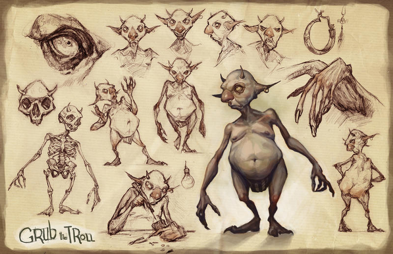 Grub the Troll by AudreyBenjaminsen