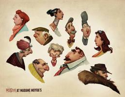 Murder Characters by AudreyBenjaminsen