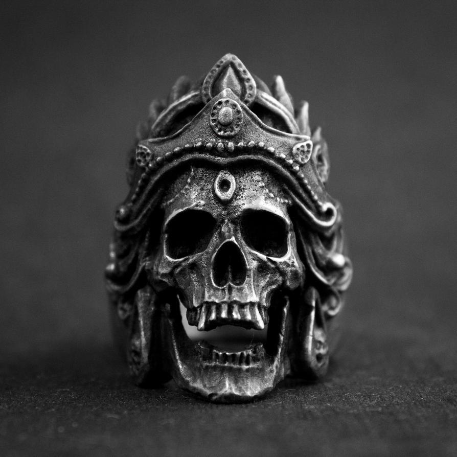 Mahakali Skull Ring by ironclanmetal