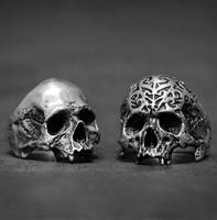 Jawless Skull ring collection from Iron Clan by ironclanmetal