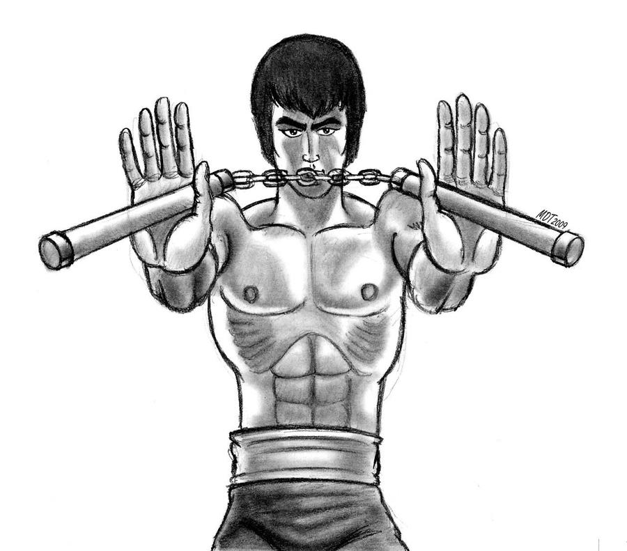 bruce lee coloring pages - photo#34