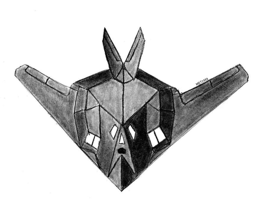 F 117 Stealth Fighter Drawing F-117 Nighthawk by MDT...