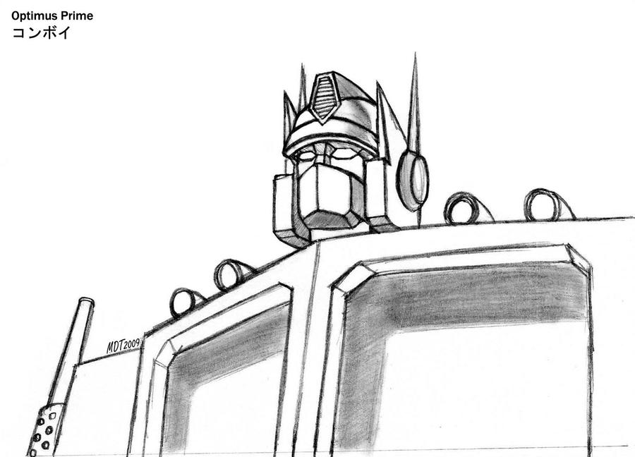 optimus prime by mdtartist83 on deviantart