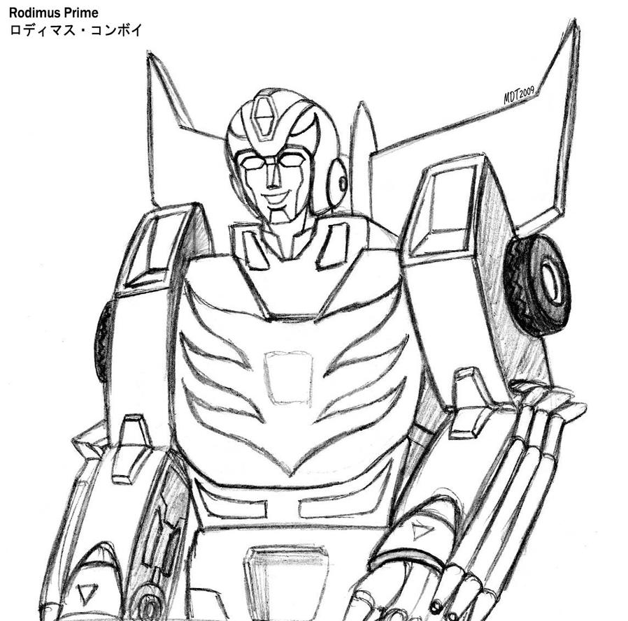 hotrod aka rodimus prime by mdtartist83 on deviantart