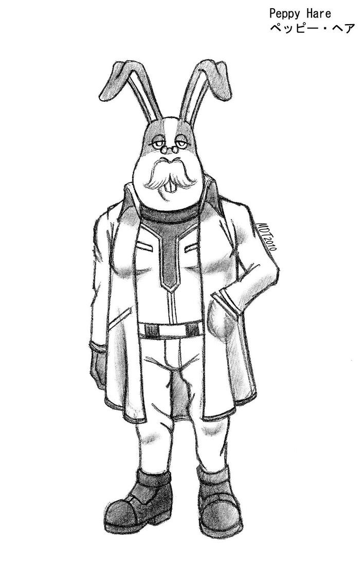 Starfox-Peppy Hare by MDTartist83Young Peppy Hare