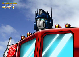 Optimus Prime - Colorized by MDTartist83