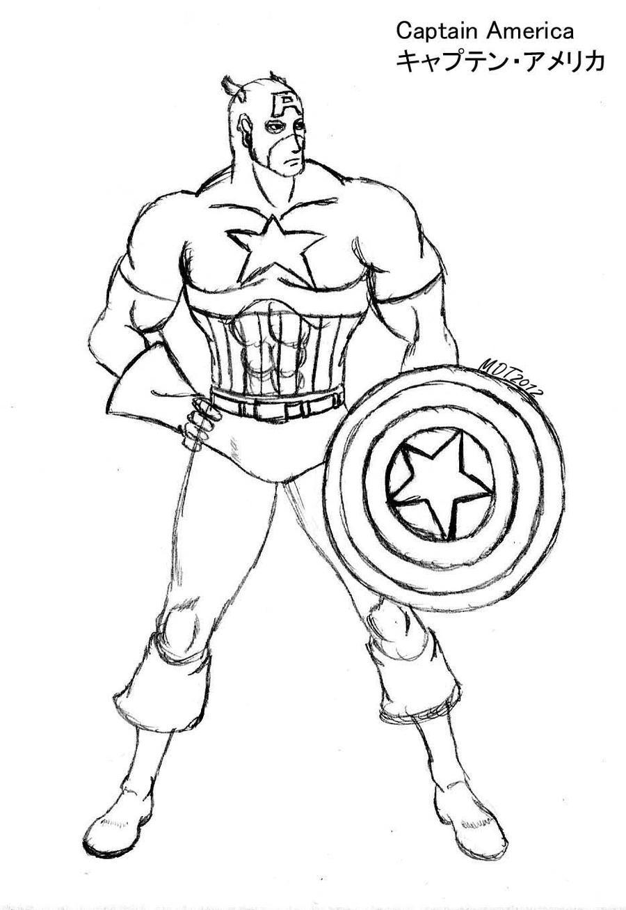 Perfecto Dibujos Para Colorear Capitán América Patrón - Ideas Para ...