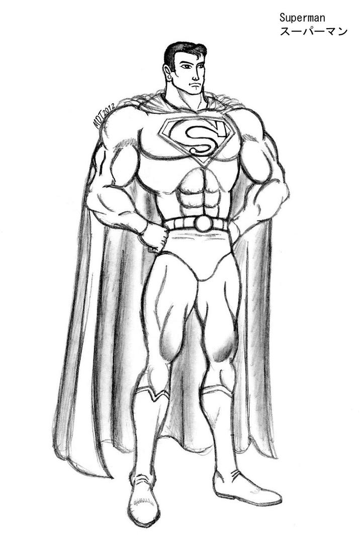 how to draw superman body