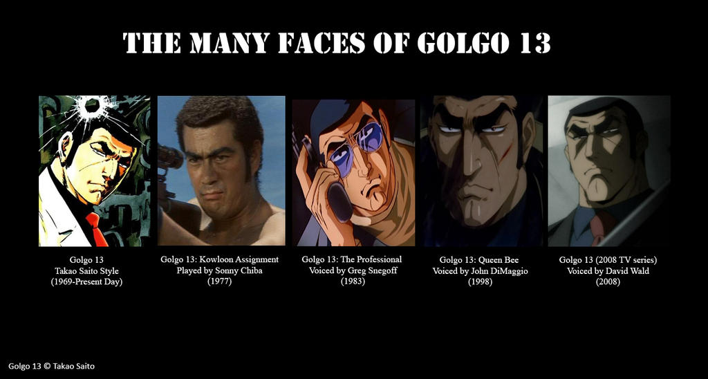 The Many Faces of Golgo 13 by MDTartist83