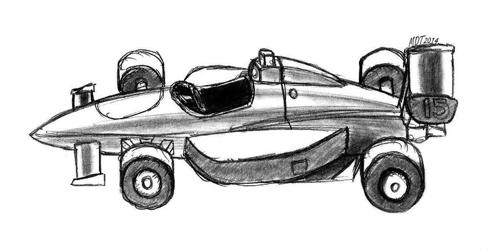 Formula One Race Car (Side View) by MDTartist83 on DeviantArt