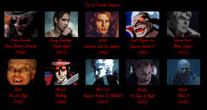 Top 10 Favorite Vampires by MDTartist83