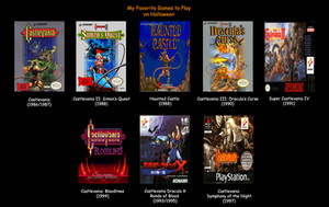 Castlevania Games by MDTartist83