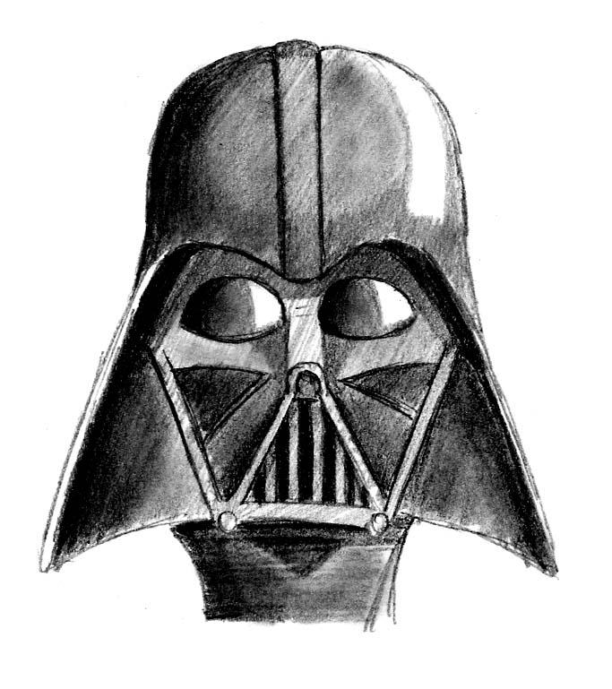 Darth Vader Mask Drawing Mask of Darth Vader by...