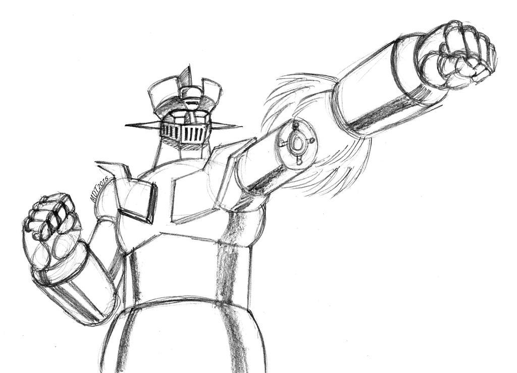 Mazinger Z Rocket Punch by MDTartist83