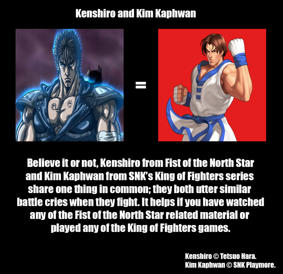 Kenshiro And Kim Kaphwan By MDTartist83 On DeviantArt