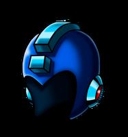 Megaman's Helmet by MDTartist83