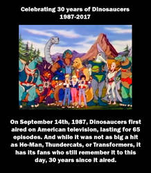 Dinosaucers 30th anniversary by MDTartist83