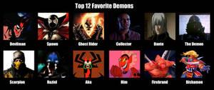 Top 12 Favorite Demons