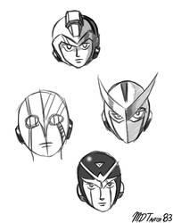 Japanese Bionic Superheroes by MDTartist83