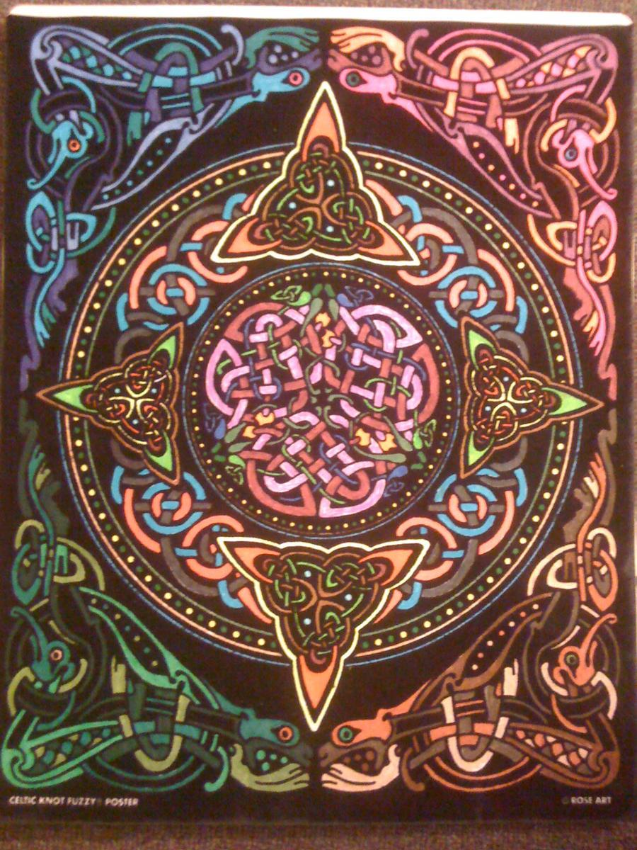 Celtic Knot - Fuzzy Poster by Darkerangel on DeviantArt