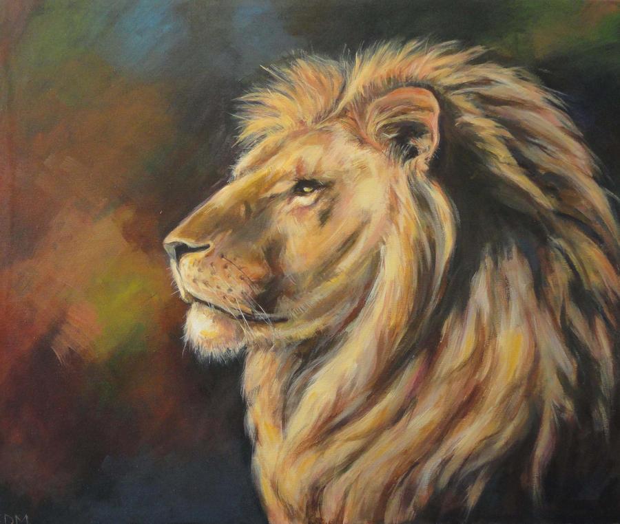 A lion by kenpaint