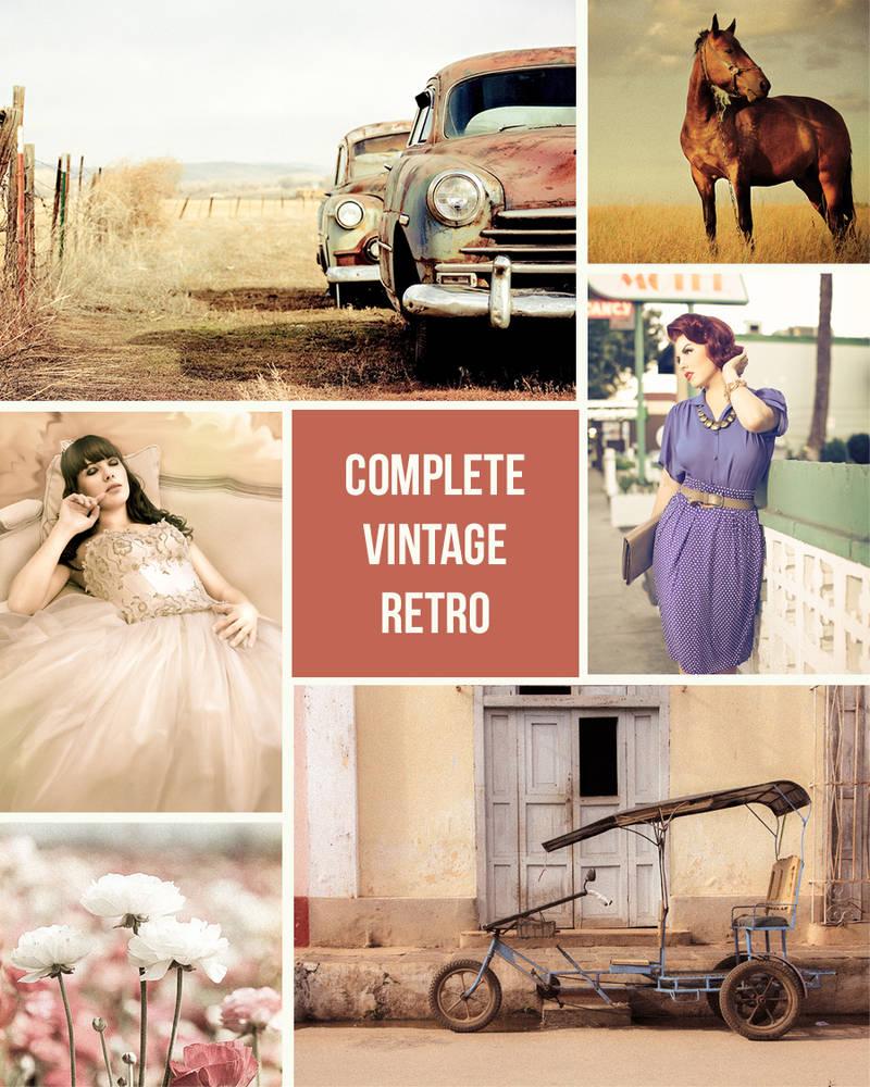 Set of 78 Vintage Retro Lightroom Presets Pack by