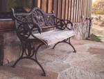 Antique Bench on Porch