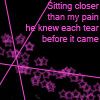 sitting closer then my pain by Shabon-Spray