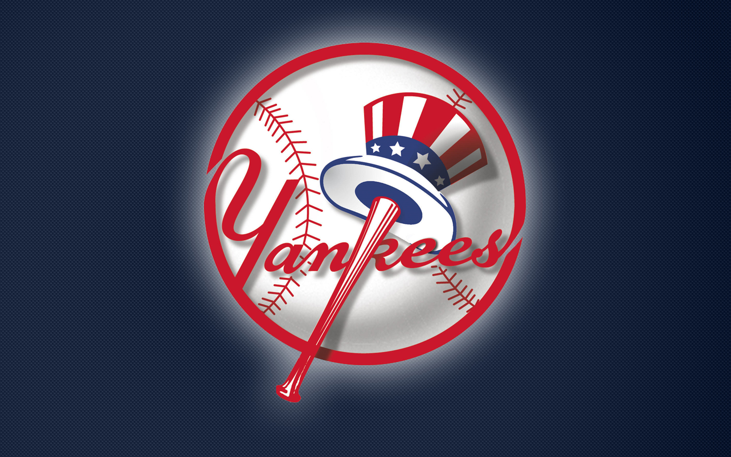 Yankees Logo on Blue Background (by ~ GEREM ) | 1440 x 900