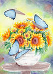 A Poem Of Butterflies And Sunflowers