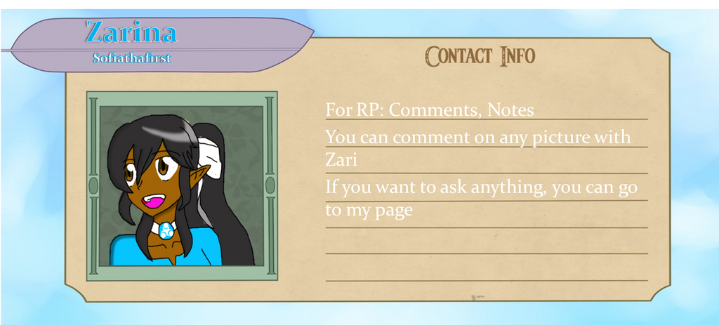 Zari's contact info by Sofiathefirst